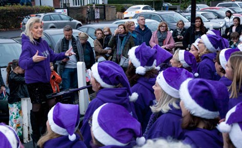 Carol singers at the Dulwich Estate