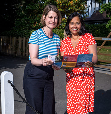 Helen Hayes MP and Nicola Meredith, Chairman of Trustees of The Dulwich Estate open a new orchard and heritage trail in Dulwich