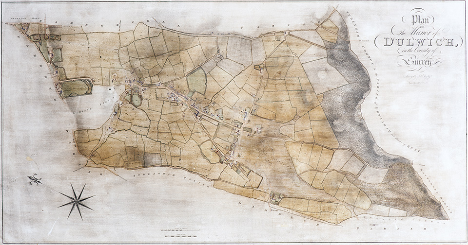 The Manor of Dulwich map, 1806