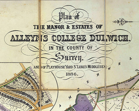 Map of Alleyn's Collage Dulwich