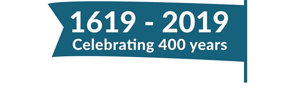 Celebrating 400 years banner